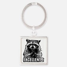 Excellent Raccoon Square Keychain