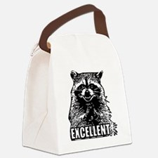Excellent Raccoon Canvas Lunch Bag