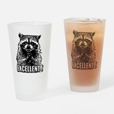 Excellent Raccoon Drinking Glass