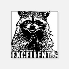"Excellent Raccoon Square Sticker 3"" x 3"""