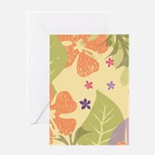 FlowerTropical_Yellow_Large Greeting Card