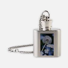 Dandelion seed head Flask Necklace