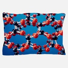 Molecular model of quartz Pillow Case