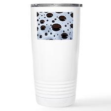 Mercury droplets Travel Coffee Mug