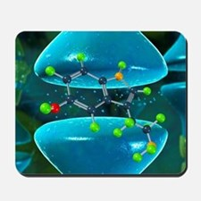 Serotonin neurotransmitter molecule Mousepad
