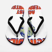 lincoln-zombie-T Flip Flops