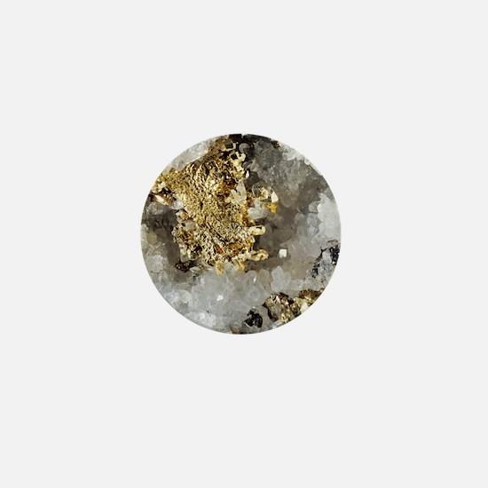 Native gold Mini Button