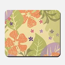 FlowerTropical_Yellow_Large Mousepad