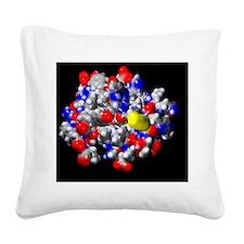 Insulin molecule Square Canvas Pillow