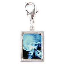 Skull X-ray Silver Portrait Charm