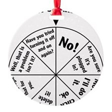 IT Professional Wheel of Answers Round Ornament