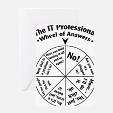 IT Professional Wheel of Answers Greeting Card