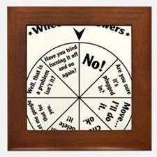 IT Professional Wheel of Answers Framed Tile