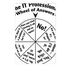 IT Professional Wheel of  Postcards (Package of 8)
