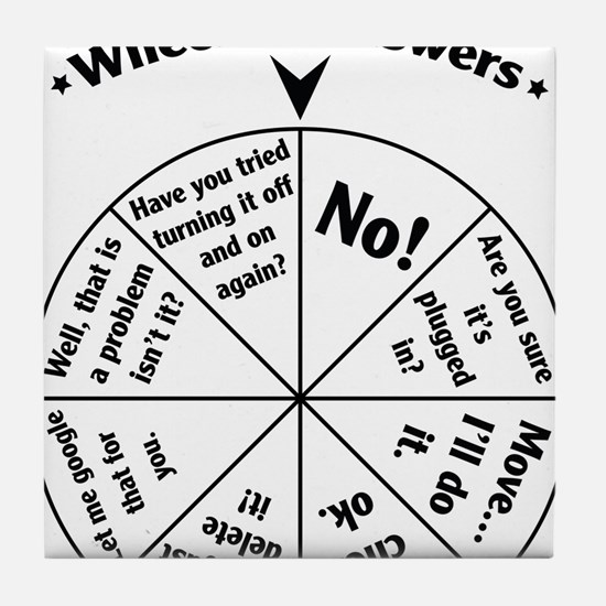 IT Professional Wheel of Answers Tile Coaster