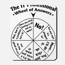 IT Professional Wheel of Answers Mousepad
