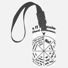 IT Professional Wheel of Answers Luggage Tag