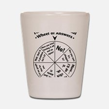 IT Professional Wheel of Answers Shot Glass
