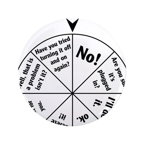 "IT Professional Wheel of Answers 3.5"" Button"