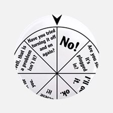 """IT Professional Wheel of Answers 3.5"""" Button"""