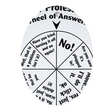 IT Professional Wheel of Answers Oval Ornament