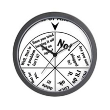 IT Professional Wheel of Answers Wall Clock
