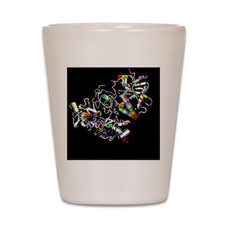 Ricin molecule Shot Glass