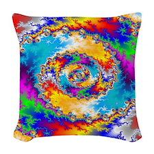 Mandelbrot fractal Woven Throw Pillow