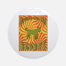 Groovy Yallers Ornament (Round)