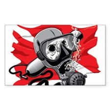 Diver Down Skull Decal