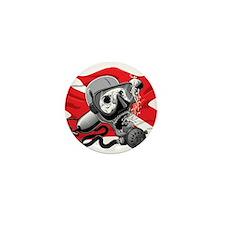 Diver Down Skull Mini Button