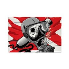 Diver Down Skull Magnets