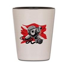 Diver Down Skull Shot Glass