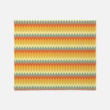 GeoZag_Yellow1_Large Throw Blanket