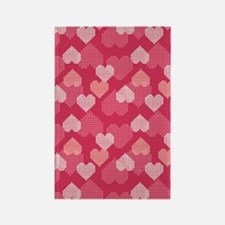 GEOHearts_Pink_Large Rectangle Magnet