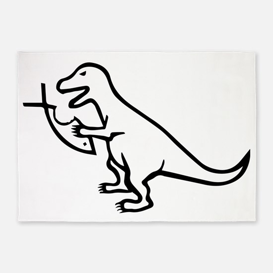 T-Rex and Religion 5'x7'Area Rug