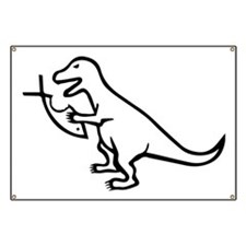 T-Rex and Religion Banner