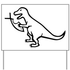 T-Rex and Religion Yard Sign
