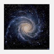 Spiral galaxy M74 Tile Coaster