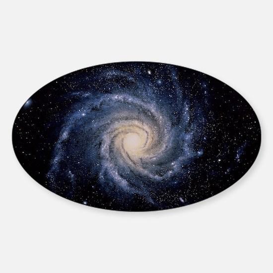 Spiral galaxy M74 Sticker (Oval)