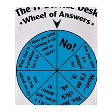 IT Wheel of Answers Throw Blanket