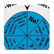 IT Wheel of Answers Tile Coaster