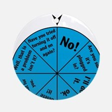 IT Wheel of Answers Round Ornament