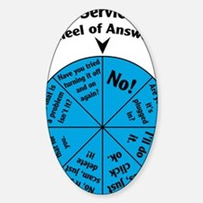 IT Wheel of Answers Decal