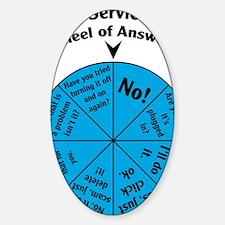 IT Wheel of Answers Sticker (Oval)
