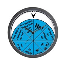IT Wheel of Answers Wall Clock