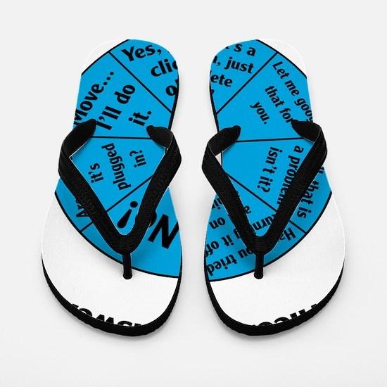 IT Wheel of Answers Flip Flops
