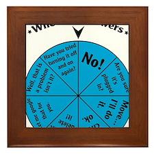 IT Wheel of Answers Framed Tile