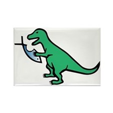 Atheism and T-Rex Rectangle Magnet