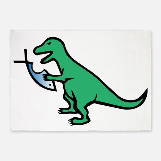 Atheism and T-Rex 5'x7'Area Rug